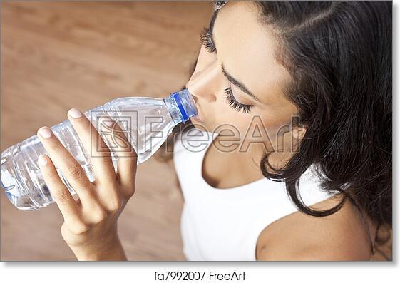 Free art print of latina hispanic woman girl drinking water bottle free art print of latina hispanic woman girl drinking water bottle at gym sciox Choice Image