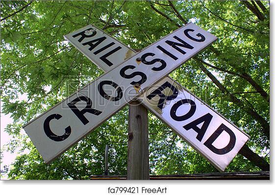 image regarding Railroad Crossing Sign Printable named Free of charge artwork print of Railroad Crossing Indicator
