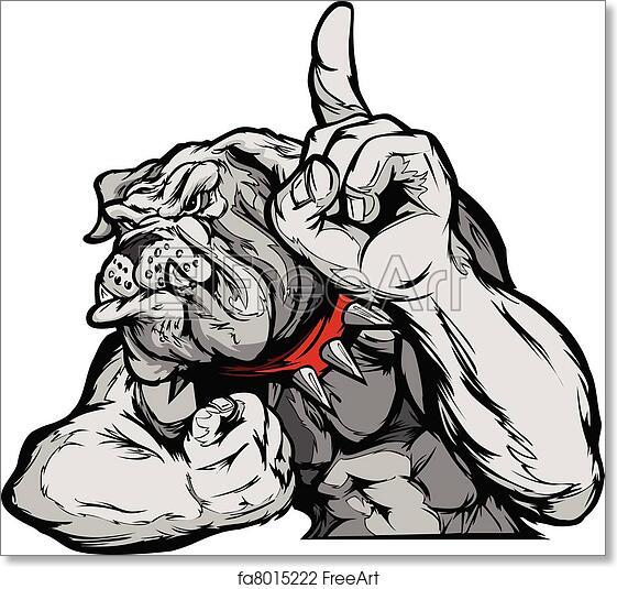 Free Art Print Of Bulldog Mascot Body Vector Cartoon