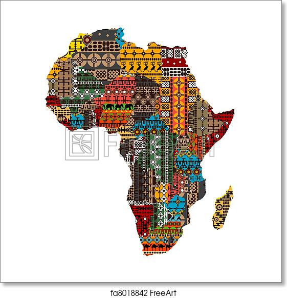 Free Africa Map Art Prints and Wall Artwork | FreeArt