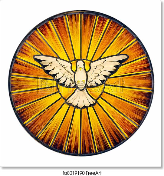 Free Art Print Of Holy Spirit Stained Glass Stained Glass Depicting