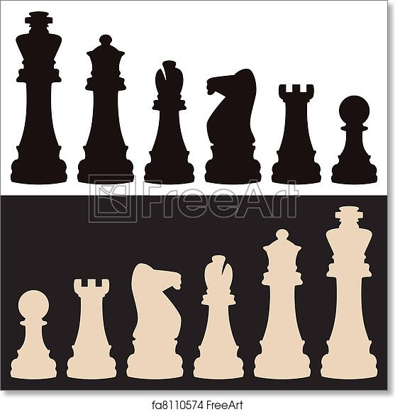 picture regarding Chess Board Printable titled Free of charge artwork print of Vector chess sections