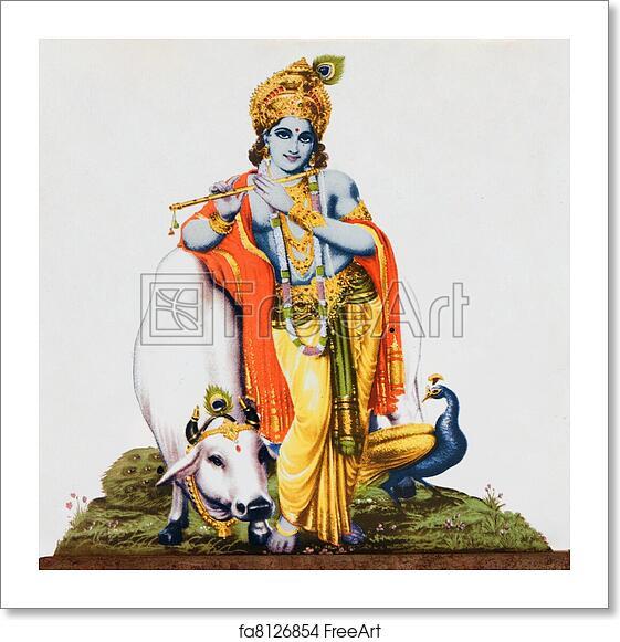 Hindu Poster Art: Free Art Print Of Image Of Hindu God Krishna. Image Of