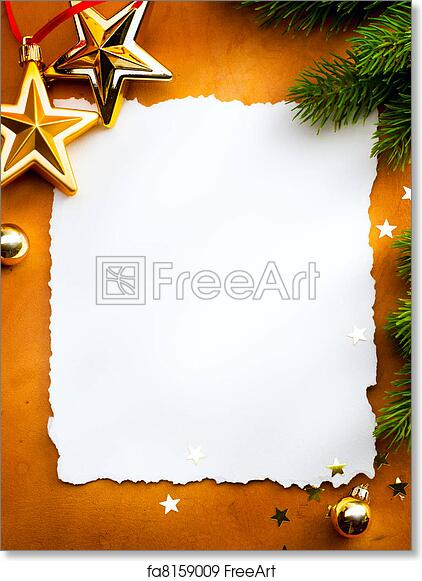 Christmas Card Background.Free Art Print Of Design A Christmas Greeting Card With White Paper On A Red Background