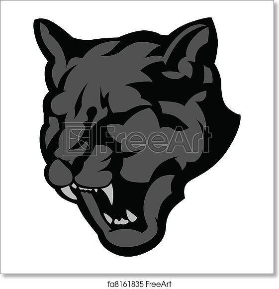 Free art print of Panther Mascot Head Vector Graphic