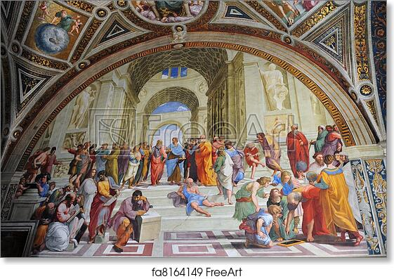 Free Art Print Of Painting By Artist Rafael In Vatican Rome Italy