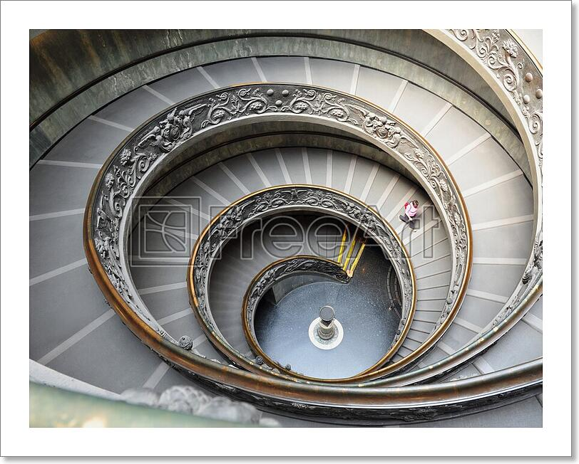 Spiral Staircase Of The Vatican Museum Art Print Home Decor Wall Art Poster E Ebay
