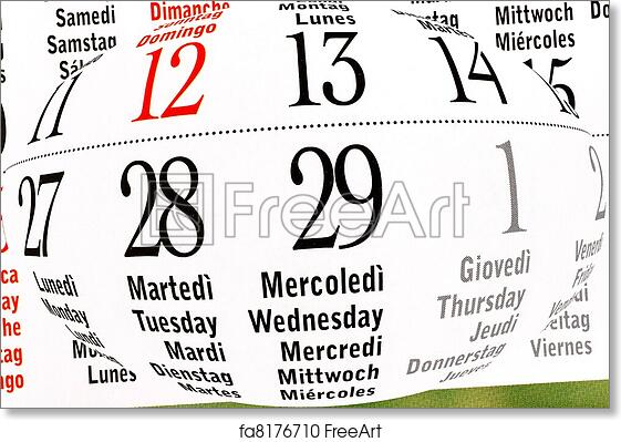 Free Art Print Of Calendar Of Leap Year February Details Of