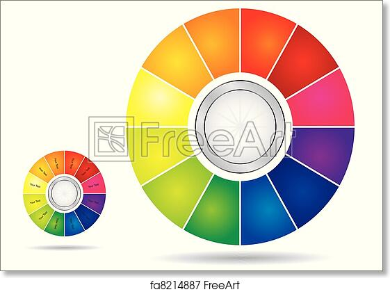 Free Art Print Of Editable Color Wheel Template Editable Color