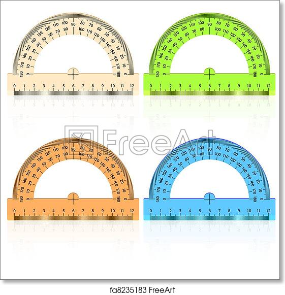 photograph regarding Printable Protractor known as Absolutely free artwork print of Protractor ruler upon a white historical past.