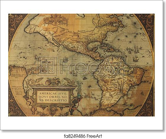 Free art print of Ancient map of America
