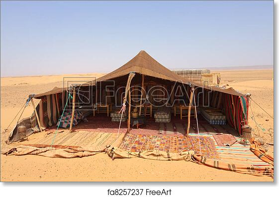 The bedouins tent in the sahara morocco | FreeArt | fa8257237  sc 1 st  FreeArt : bedouin tents morocco - memphite.com