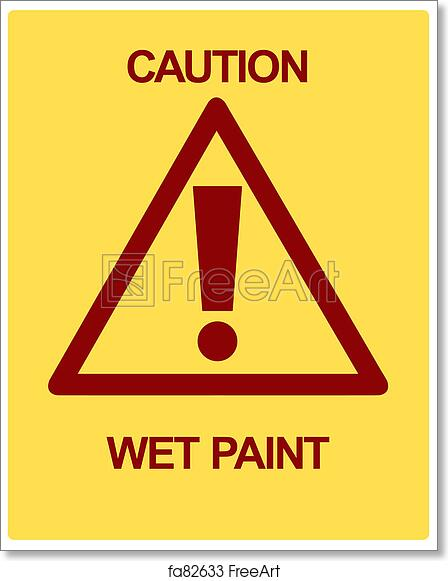 photograph about Printable Wet Paint Sign referred to as No cost artwork print of Warning Soaked Paint