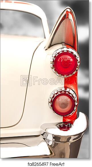 Free art print of Vintage Car Tail Lights