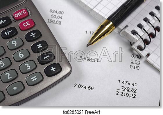 free art print of budget calculation freeart fa8285021