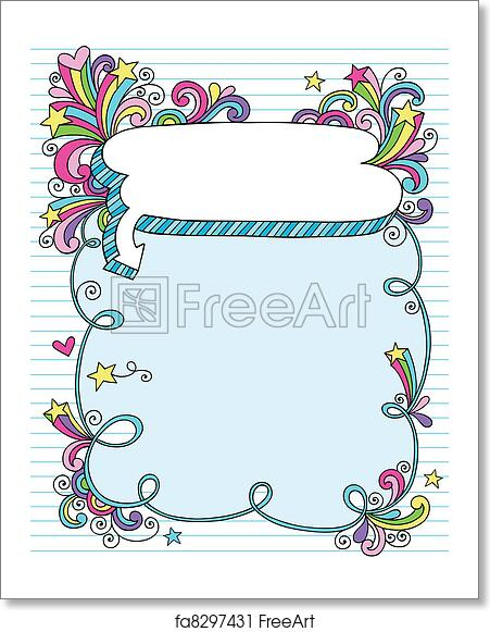 Free Art Print Of Psychedelic Notebook Frame Doodle Hand Drawn