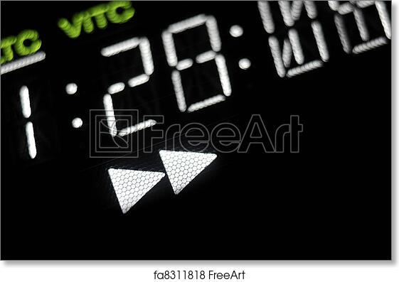 Free art print of Macro shot-display of the broadcast video player