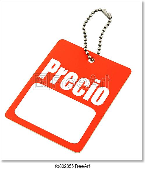 image relating to Price Tag Printable named Free of charge artwork print of Value tag with the Spanish \