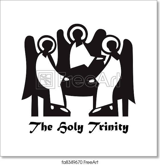 Free art print of The-Holy-Trinity
