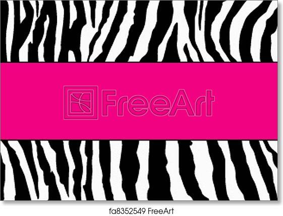 Free Art Print Of Pink Zebra Business Card Template Zebra Business