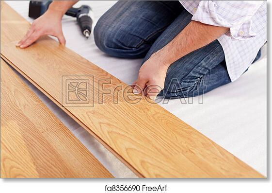 Free Art Print Of Installing Laminate Flooring Installing Laminate