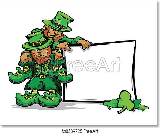 Free art print of St. Patricks Day Leprechauns Holdin