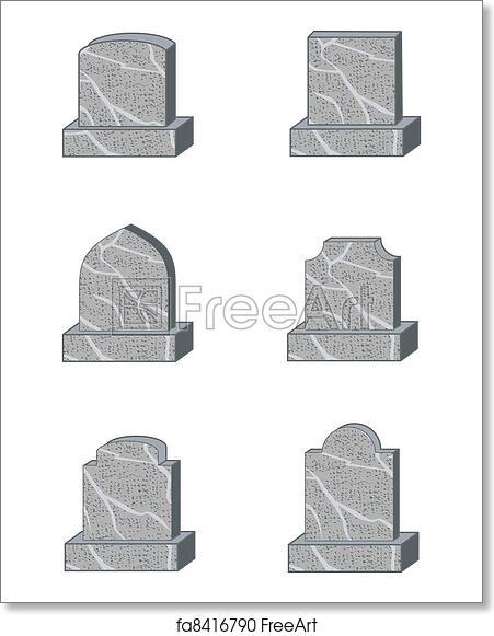 Free art print of Headstone shapes. Six standard granite gravestone ...