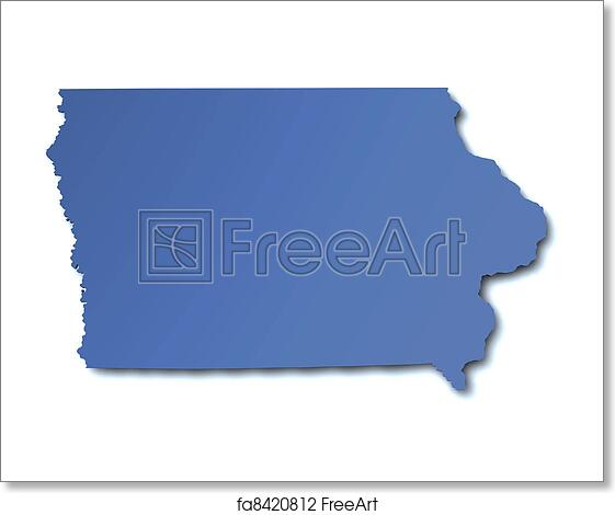 Iowa On Usa Map.Free Art Print Of Map Of Iowa Usa Freeart Fa8420812