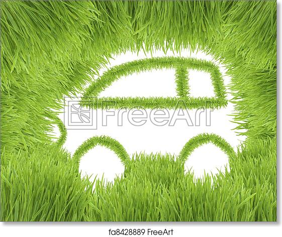 Free Art Print Of Concept Of The Eco Friendly Car