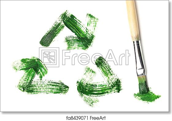 image relating to Printable Recycle Symbol referred to as Totally free artwork print of Painted recycle logo