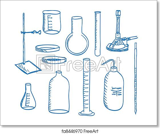 Free Art Print Of Science Laboratory Equipment Doodle Style Illustration Of A Chemistry Laboratory Equipment Vector Freeart Fa8446970
