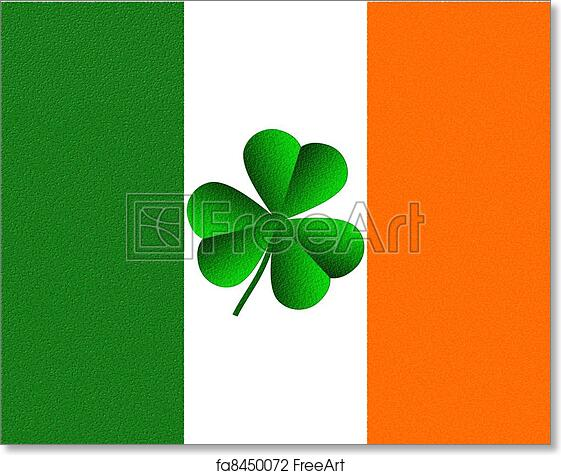 picture regarding Flag of Ireland Printable called No cost artwork print of Eire Irish Flag and Shamrock