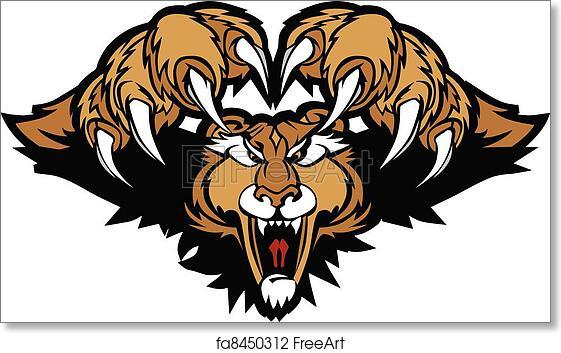 Puma Clip Art - Royalty Free - GoGraph