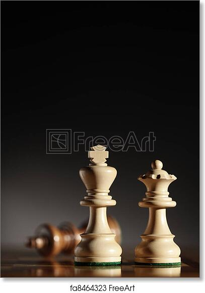 Free Art Print Of King Queen King And Queen Chess Pieces Low