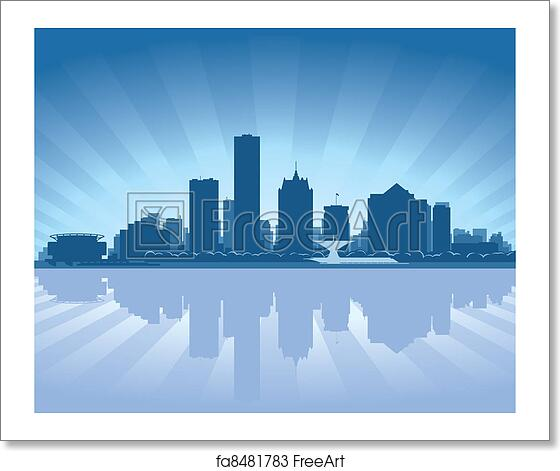 free art print of milwaukee wisconsin skyline milwaukee wisconsin