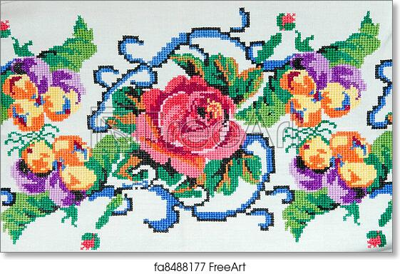 Free art print of Embroidered good by cross-stitch pattern