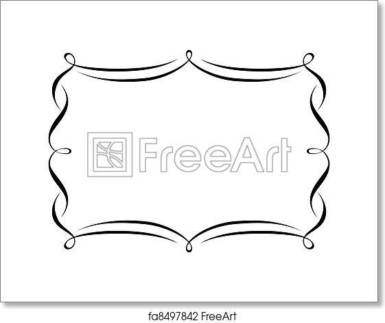 Free art print of Calligraphy ornamental decorative frame. Vector ...