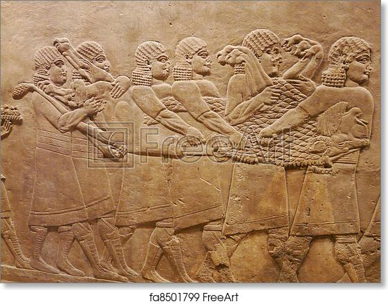 Free art print of ancient assyrian wall carvings ancient assyrian
