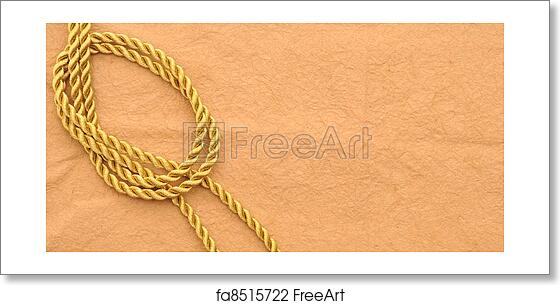 Free art print of Vintage paper with decorative rope border