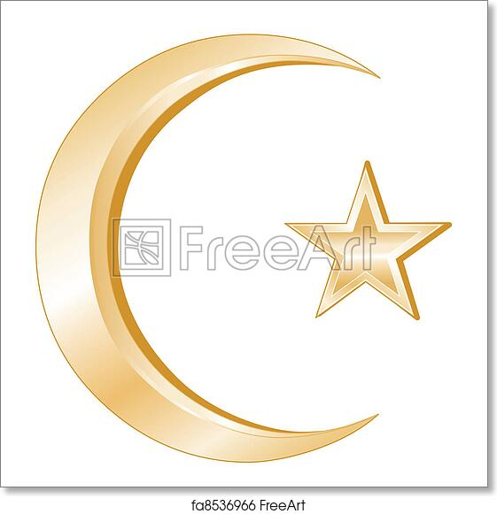 Free Art Print Of Islam Symbol Crescent And Star Golden Symbols Of