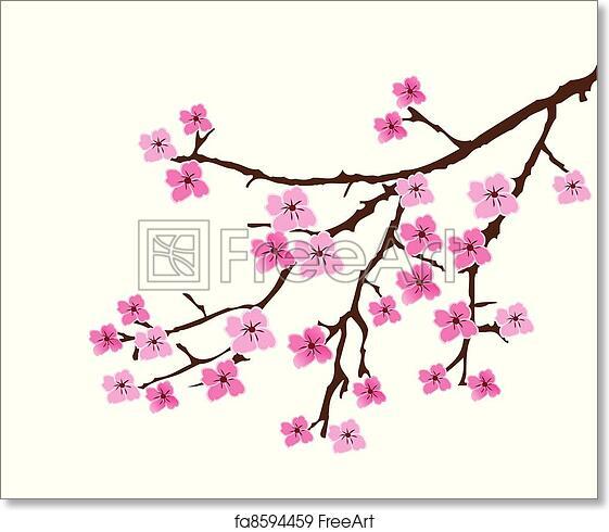 Japanese Cherry Art Print Home Decor Wall Art Poster F Seamless Tree Pattern