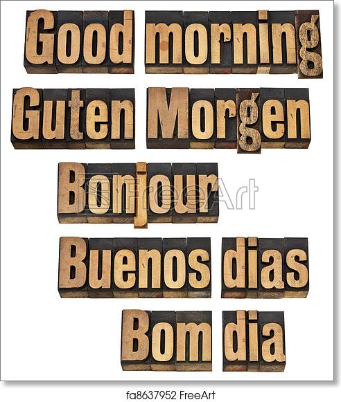 Free Art Print Of Good Morning In Five Languages Good Morning In