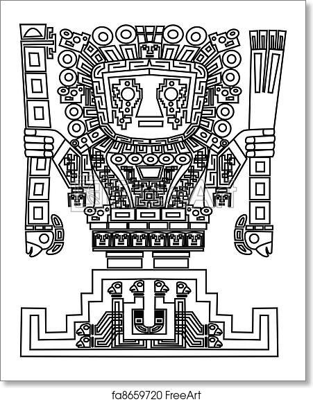 Free Art Print Of Vector Mayan And Inca Tribal Symbols Freeart