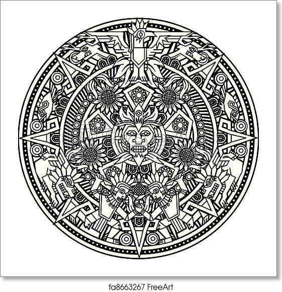 Free Art Print Of Aztec Mandala