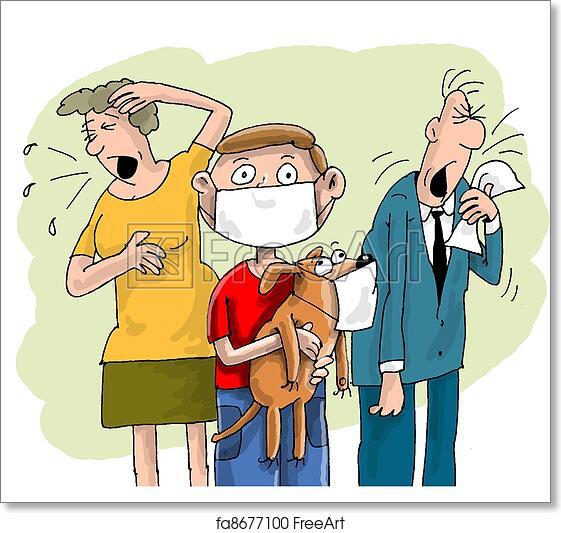 Free art print of Family flu  jpg