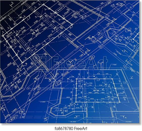 Superb Free Art Print Of House Plan. Vector Blueprint