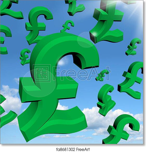 Free Art Print Of Pound Signs As Symbol For Money Or Wealth Pound