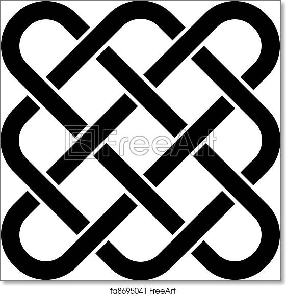 photograph relating to Printable Celtic Stencils identify Absolutely free artwork print of Vector limitless celtic knot