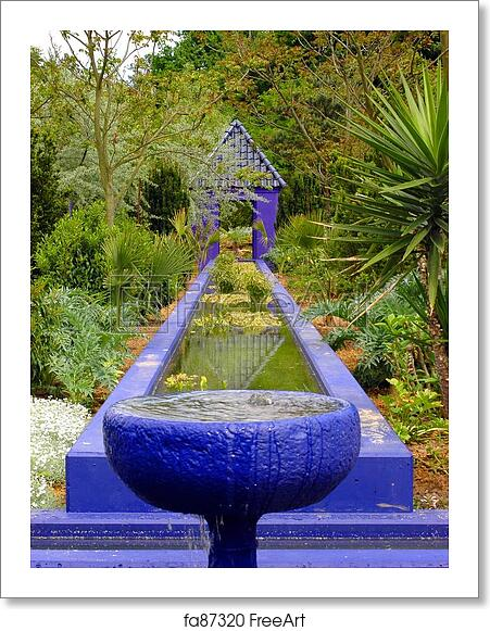 Free Art Print Of Moroccan Garden A View On A Moroccan