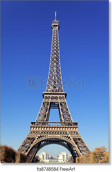 picture relating to Printable Pictures of the Eiffel Tower called Free of charge artwork print of Renowned Eiffel Tower